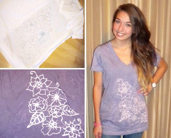 DIY Inverted Dye T Shirt