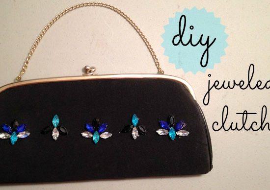 Diy jeweled clutch