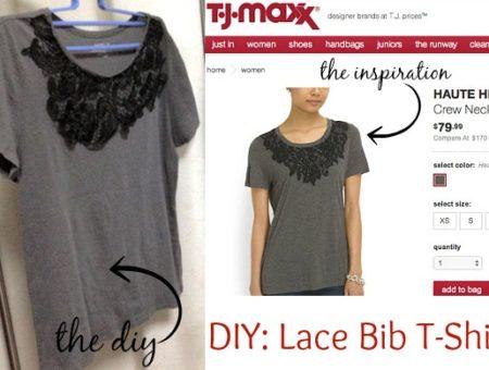 Diy lace t shirt