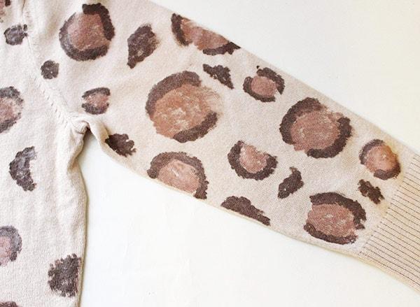 Diy leopard cardigan arm