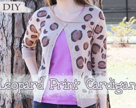 DIY Leopard Print Cardigan