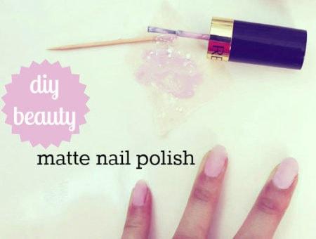 DIY your own matte nail polish