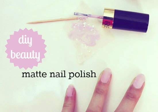 DIY your own matte nail polish