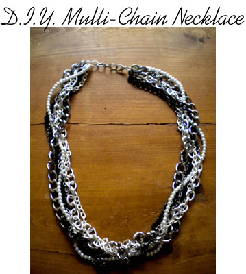 DIY Multi-Chain Necklace tutorial