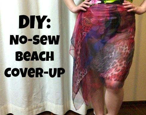 Diy no sew cover up