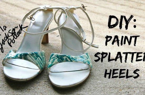 Diy paint splatter heels