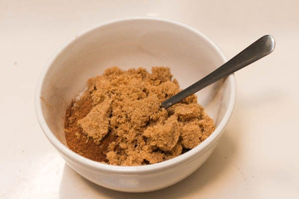 DIY pumpkin spice sugar scrub step 1