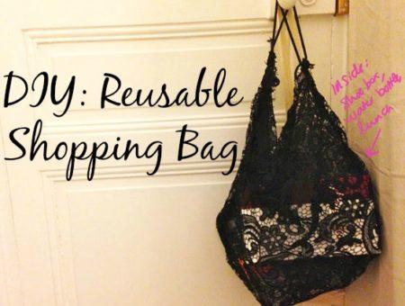 Diy reusable shopping bag