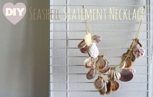 Diy seashell statement necklace