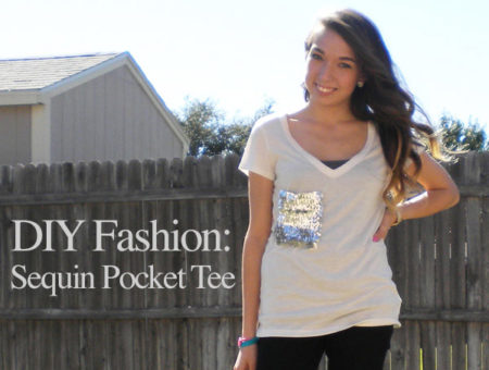 DIY Fashion: Sequin Pocket Tee