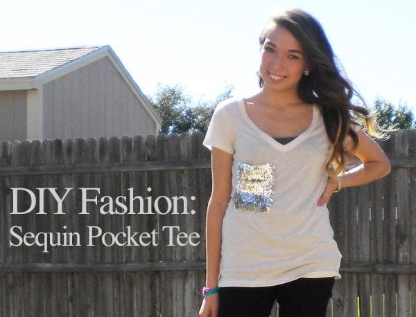 DIY Fashion: Sequin Pocket Tee