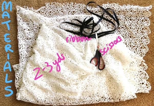 Diy swim dress cover materials