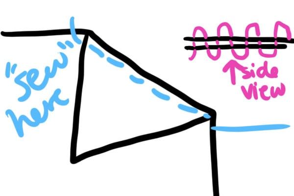 Diy swim dress cover step 3