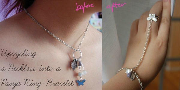 Diy upcycle necklace to panja