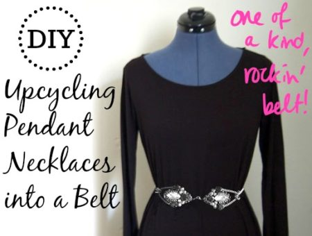 Diy upcycling necklaces into belt