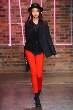 DKNY Fall Red Pants with Hate