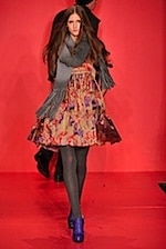 DKNY winter floral dress - fall 2008 fashion