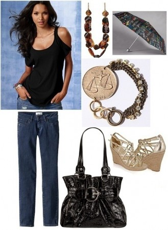 College outfit inspired by Donna Karan