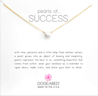 Dogeared necklace: Pearls of Success