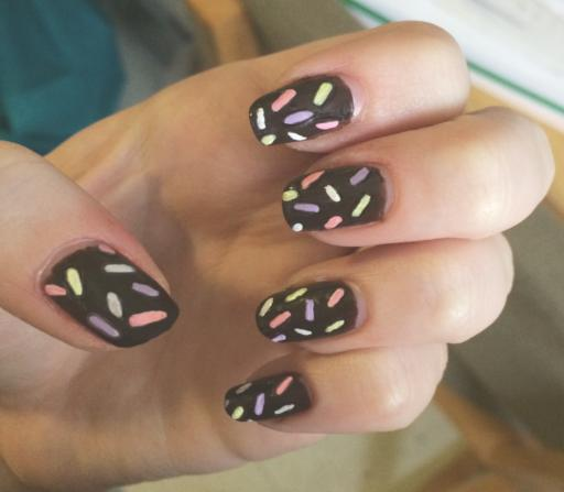 Donut nails finished product