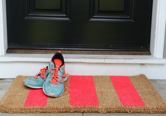 doormat with shoes