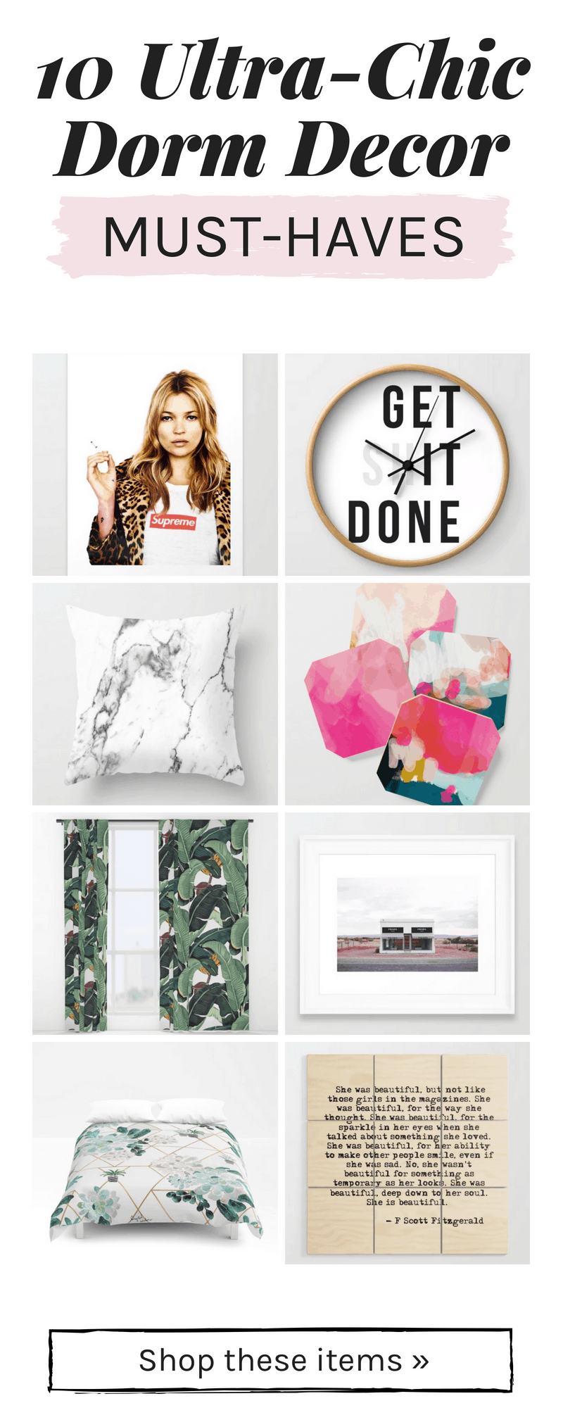 Stylish dorm decor finds from Society6