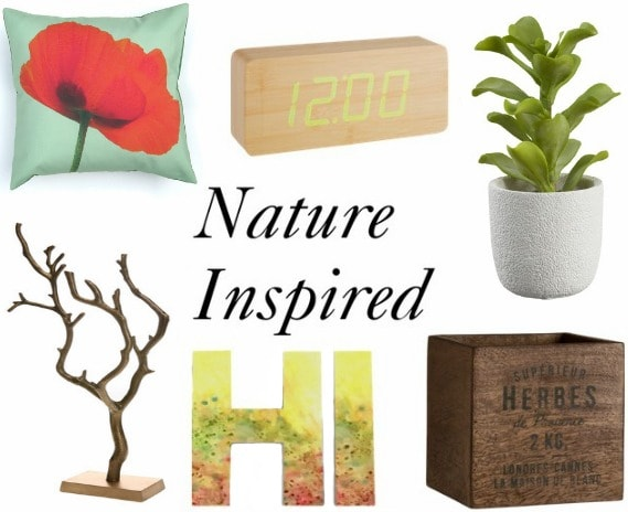 Dorm decor inspired by nature