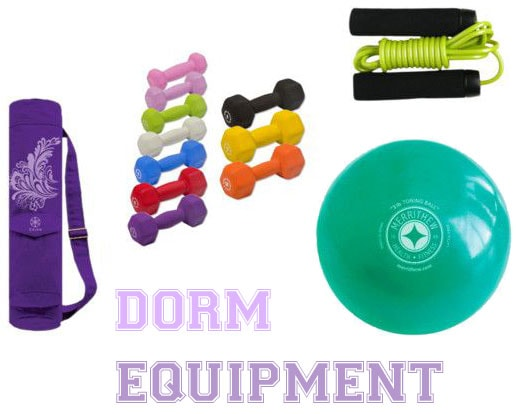 Dorm room fitness equipment