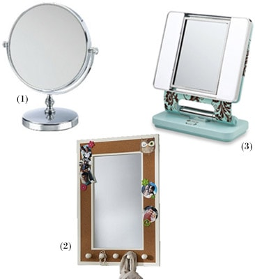 Small personal mirrors for your dorm room or sorority room