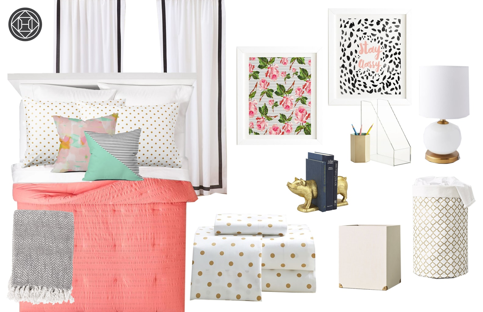 Havenly dorm room decor - social butterfly