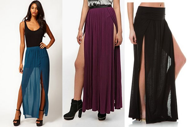 Double slit skirts