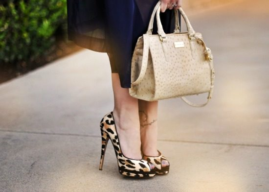 Dress and leopard heels