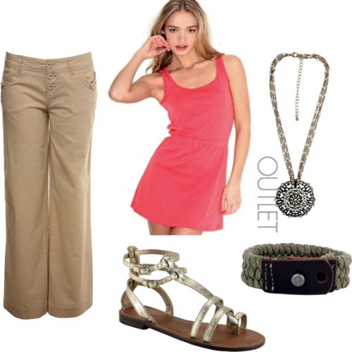 Dress with pants outfit 2