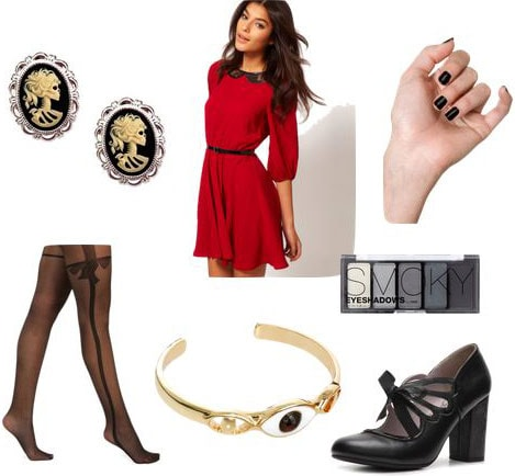 Outfit inspired by Drusilla from Buffy the Vampire Slayer
