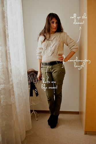 How to style a too-short sweater