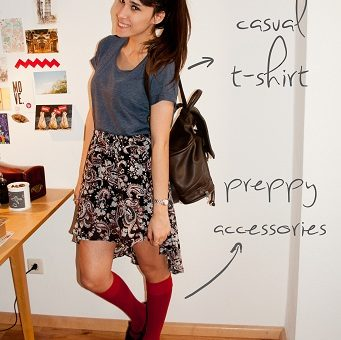 How to wear a high-low skirt: Casual