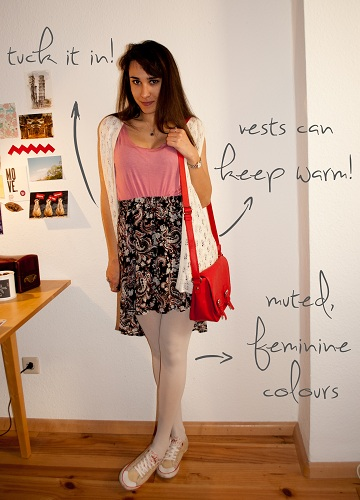 How to wear a high-low skirt: Girly outfit