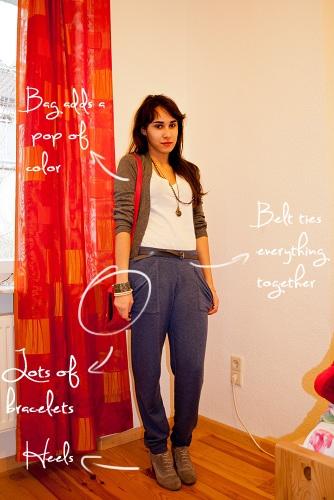 How to make sweats look fashionable