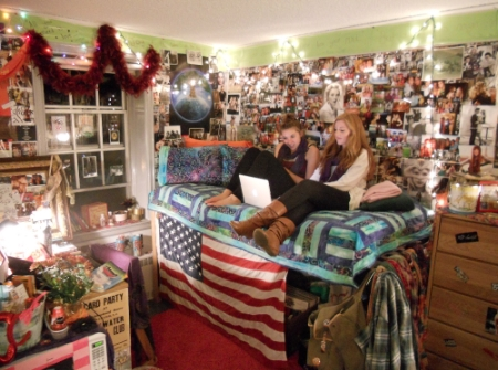 Mallory's Side of the eclectic dorm room