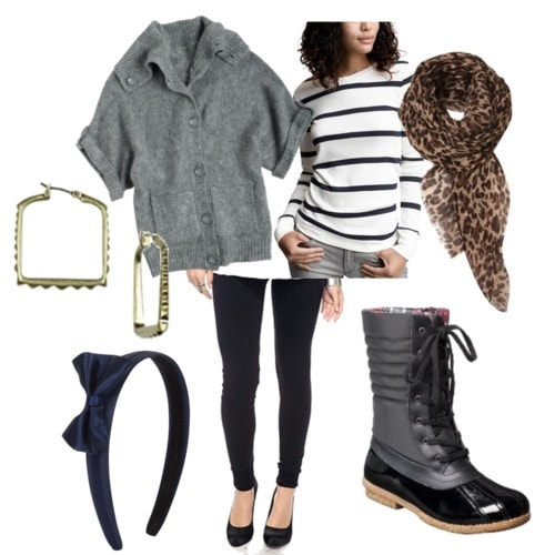 duck boot outfit