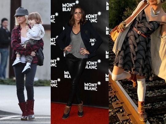 celebrities in duck boots