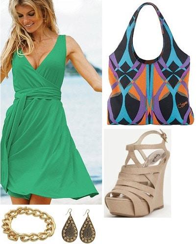 Diane von Furstenberg-inspired outfit
