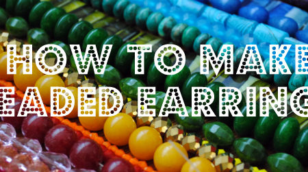 How to make beaded drop earrings