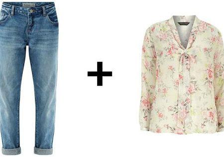 Easy Outfit Formulas: Boyfriend Jeans + Sheer Blouse