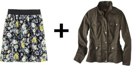 Easy Outfit Formulas: Chiffon Skirt + Utility Jacket