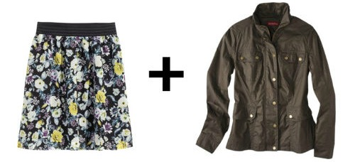 Easy Outfit Formulas: Chiffon Skirt + Utility Jacket