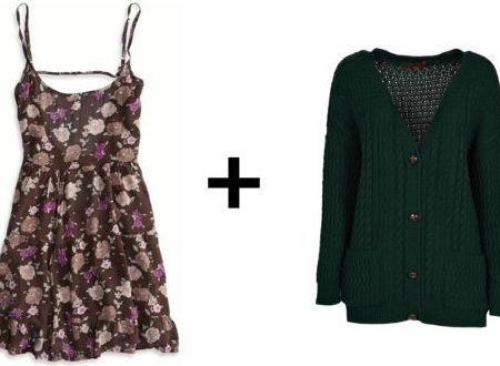 Easy outfit formulas floral dress cardigan