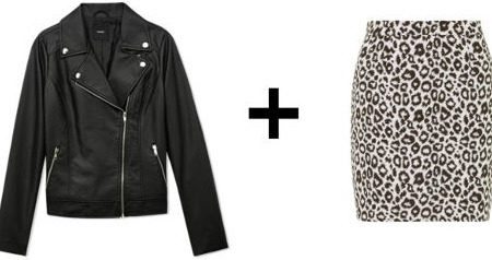 Easy outfit formulas moto jacket and fitted skirt