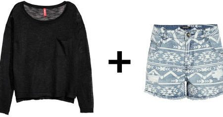 Easy outfit formulas sweater and high waisted shorts