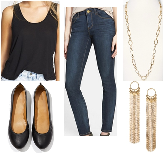Easy A Necklace Earrings Outfit